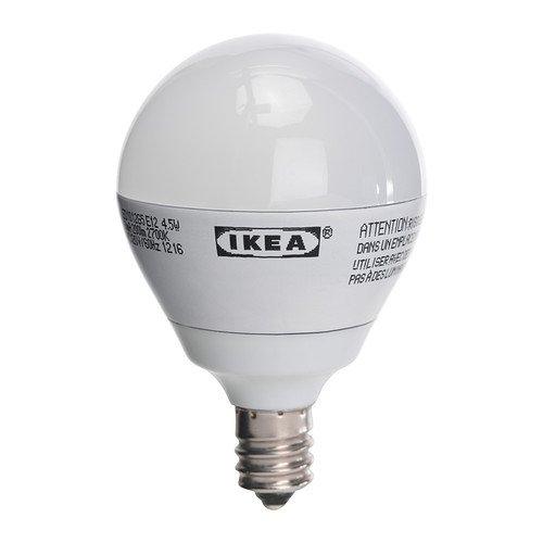 Ikea Ledare E12 200 Lumen, 3.5 Watts, Small Led Light Bulb, Opaque