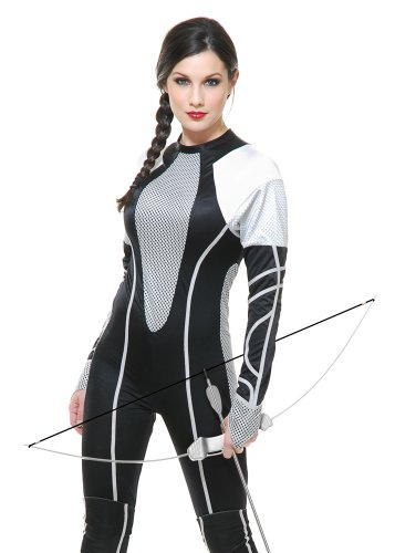 Charades Women's Hunter Jumpsuit with Out Knee Pads, As Sample, X-Small (The Hunger Games: Catching Fire Katniss Costume For Women)