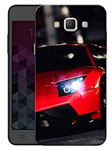 """Humor Gang Super Car Red Printed Designer Mobile Back Cover For """"Samsung Galaxy A7"""" (3D, Matte, Premium Quality Snap On Case)"""