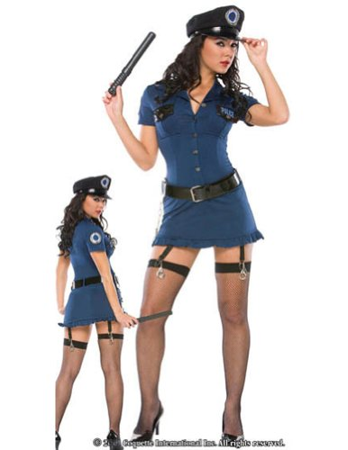 Bad Cop Sm Md Adult Womens Costume
