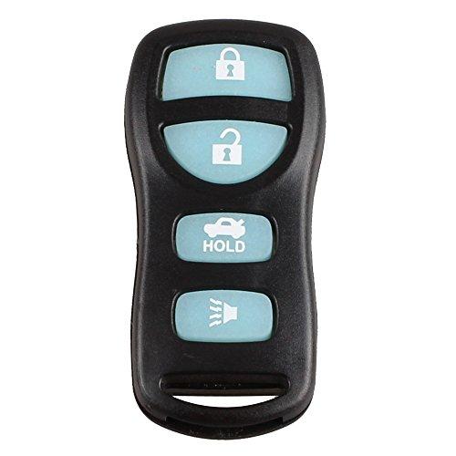 KKMOON Nuova Glow in Dark 4 Button Keyless Entry chiave a distanza del trasmettitore Fob Clicker per Nissan Infiniti