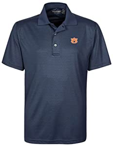 NCAA Auburn Tigers Mens Honeycomb Embossed Polo Shirt by Oxford