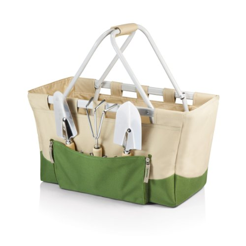 Picnic Time 740-93-190-000-0 Garden Metro Basket with Tools