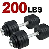 41KyqX2V6BL. SL160  One Pair of Adjustable Dumbbells Kits   200 Lbs (100lbs x 2pc)