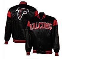 Atlanta Falcons Onside Kick Full Button Satin Jacket - Black by NFL