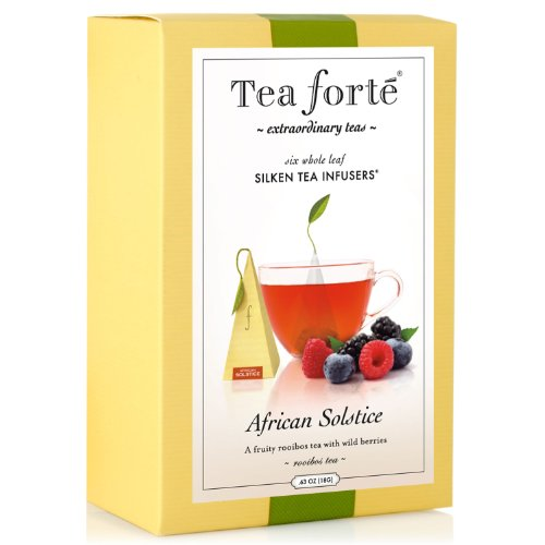 Tea Forte Gourmet Pyramid Box Tea Infusers-African Solstice, 6 ct