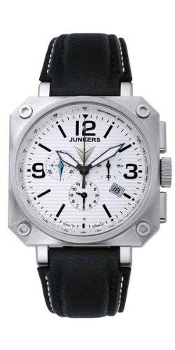 Junkers - Orologio da polso, cronografo al quarzo, pelle
