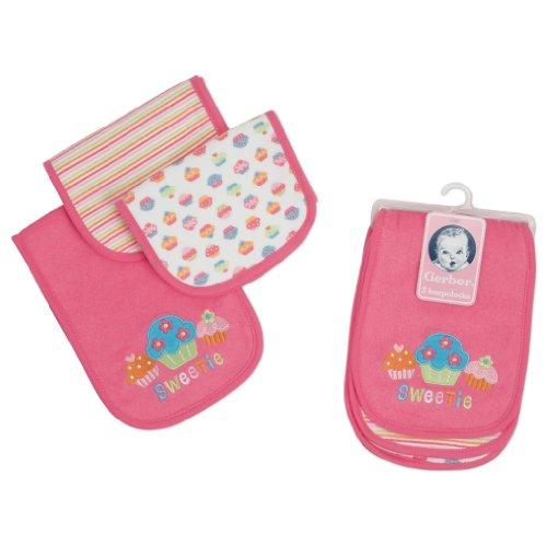 Gerber Baby-Girls Newborn 3 Pack Terry Burp Cloths