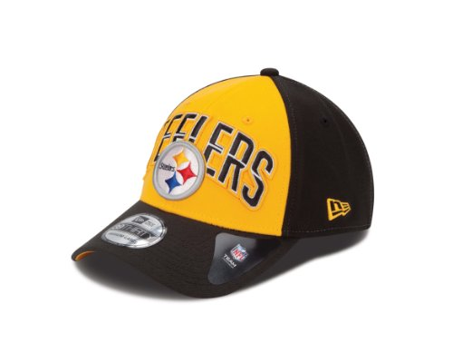 NFL Pittsburgh Steelers 2013 Draft 39Thirty Flex Fit Cap, Medium/Large, Black at Amazon.com