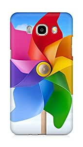 Amez designer printed 3d premium high quality back case cover for Samsung Galaxy J7 - 6 (New 2016 Edition) (Great color windmill)