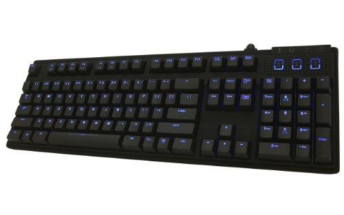 Max Keyboard Nighthawk-X7 Blue Backlit Mechanical Keyboard (Blue Cherry Mx)