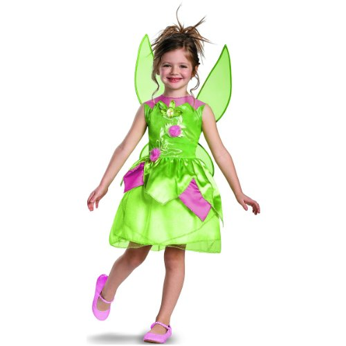 Disguise Disney Fairies Tinker Bell Classic Girls Costume, 7-8 front-1012530