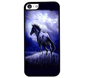 Fuson Premium Wild Horse Metal Printed with Hard Plastic Back Case Cover for Apple iPhone 5C