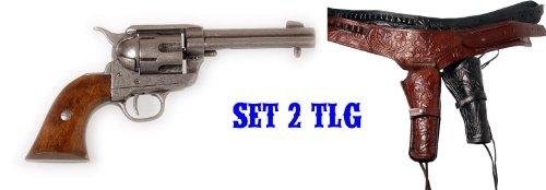 deko-revolver-colt-peacemaker-pm-86-usa-1873-kaliber-45-inkl-leder-holster-schwarz-o-braun-schwarz