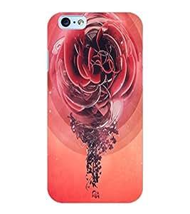 ColourCraft Love Rose Design Back Case Cover for APPLE IPHONE 6