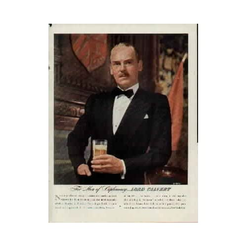 For Men of Distinction, Photographed by SARRA.  1944 LORD CALVERT Whiskey Ad, A5824A. 19440522