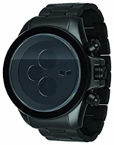 Vestal Men's ZR3011 ZR-3 Minimalist Oversized Matte Black Chronograph Watch
