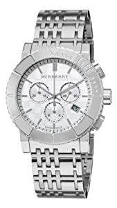 Burberry Men's BU2303 Trench Chronograph White Chronograph Dial Watch