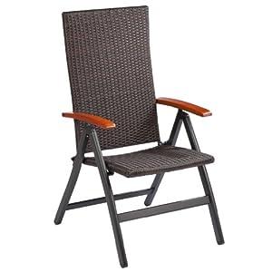 ultranatura polyrattan klappstuhl mit armlehne. Black Bedroom Furniture Sets. Home Design Ideas