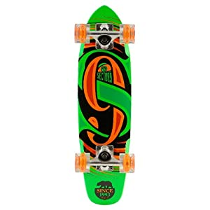Sector 9 Steady Glow Wheel Green Complete Mini Cruiser With L.E.D. Light Up Wheels by Sector 9