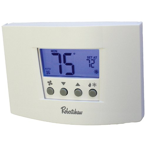 Robertshaw RS6110 1 Heat/1 Cool Digital 7 Day Programmable Thermostat Heat Pump, Single Stage