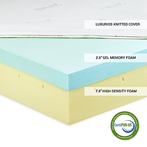 Furinno Angeland Healthysleep 10 Inch Visco Elastic Luxury Gel Memory Foam Mattress Certipur Us