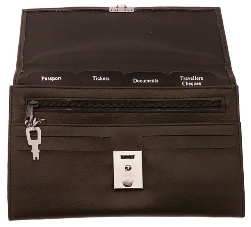 Soft Dark Brown Travel Document Case (Passport, Tickets, Travellers Cheques, Insurance, Money Holder etc)