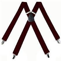 "SUS-7-BURG - Solid Suspender - Made In U.S.A - 1.50 "" Wide - X-BACK"