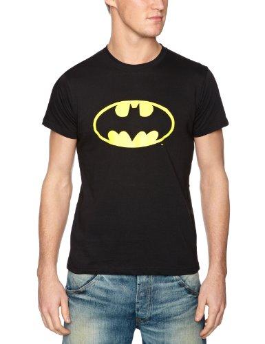 DC Comics Batman Classic Logo Men's T-Shirt Black DC010M Medium