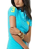 Ralph Lauren Mothers Polo Shirt Ladies Dual Match Turquoise