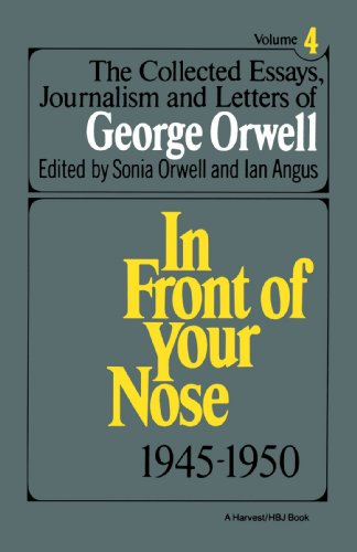 the collected essays journalism and letters of george orwell online Buy george orwell: age like this, 1920-1940 v 1 by george orwell,  the collected essays, journalism and letters (paperback) george orwell (author),.