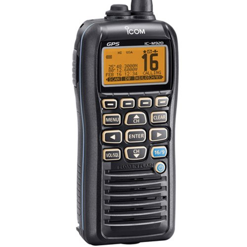 ICOM IC-M92D 01 Handheld VHF Marine Radio with Internal GPS