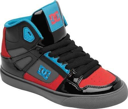 Dc Spartan High Skate Shoe (Little Kid/Big Kid),Black/Athletic Red/Turquoise,12 M Us Little Kid