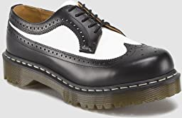 Dr. Martens Men\'s/Women\'s 3989 Brogue Oxford,Black/White Smooth,9 UK (US Men\'s 10 M/Women\'s 11 M)