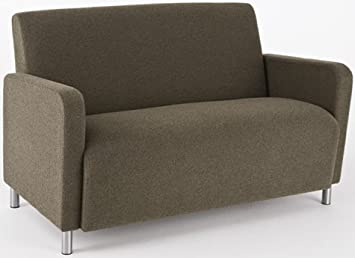 Lesro Ravenna Q1501G8 Loveseat fabric Perk Patriot finish Brushed Steel