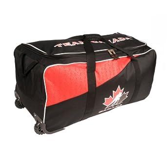34 Hockey Canada Wheeled Hockey Bag Red by Hockey Canada