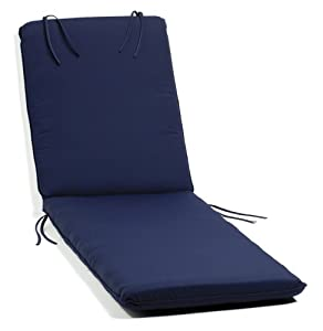 Oxford garden chaise lounge cushion navy for Blue chaise cushions