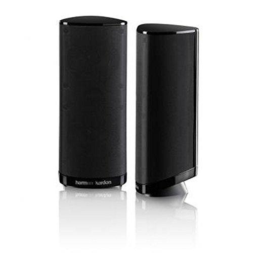 Harman-Kardon-HKS-4BQ-2-Wege-Audio-Surroundsound-Lautsprecher-Heimkino-Lautsprechersystem-Ergnzungslautsprecher-Hochglanz-Schwarz