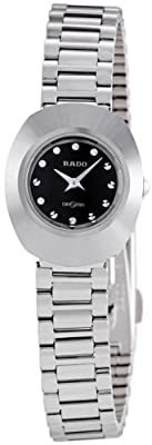 Rado Original Black Diamond Dial Stainless Steel Ladies Watch R12558153