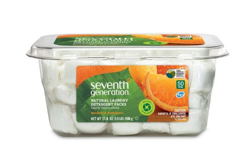Seventh Generation Natural Laundry Detergent Packs, (pack of 2)