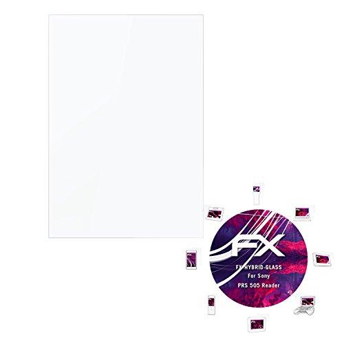 atFoliX Panzerglasfolie Sony PRS 505 Reader Glasfolie - FX-Hybrid-Glass ultradünn und superhart