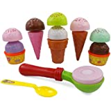 Ice Cream Party Fast Food Cooking & Cutting Play Set Toy for Kids