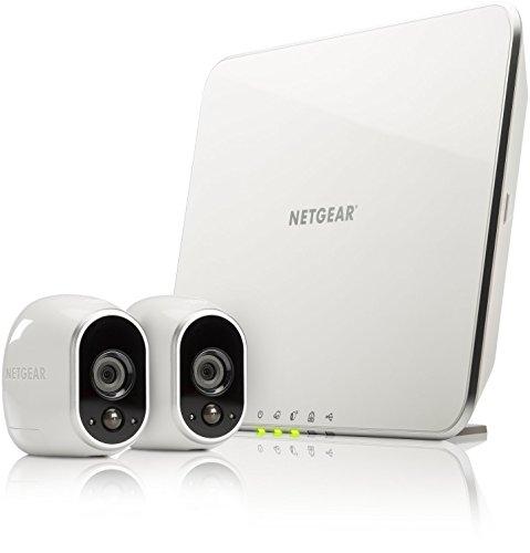 Netgear Arlo VMS3230-100EUS Kit con 2 Videocamere HD Wi-Fi per la Sicurezza Domestica, Interno/Esterno, Visione Notturna, Bianco