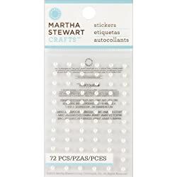 Martha Stewart Crafts White Dimensional Mini Pearls