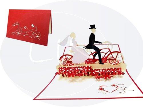 Auguri Matrimonio Con Una Canzone : Pop up d karte hochzeitskarten hochzeitseinladung