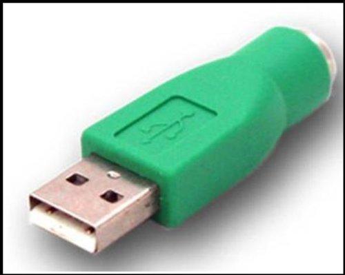 ITC17113 Bundle USB Adapter von USB Buchse auf PS/2 STECKER mit unserer kostenlosen handbetriebenen 3 LED Taschenlampe die ihren Strom über den eingebauten Dynamo bekommt
