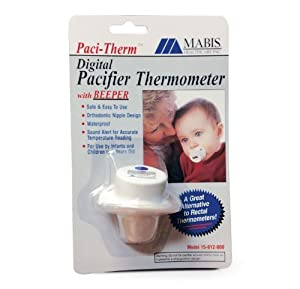 Mabis Digital Pacifier Thermometer w/Beeper, Each