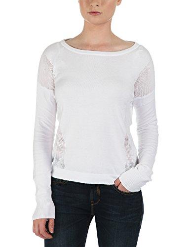 Bench, Maglione Donna Makeapoint, Bianco (Brightwhite), X-Large (Taglia Produttore: XL)