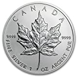 2013 Canadian (1 Oz) Silver Maple Leaf Coin in Air-tite Capsule