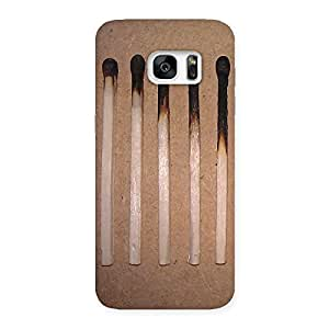 Enticing Burned Matchsticks Multicolor Back Case Cover for Galaxy S7 Edge